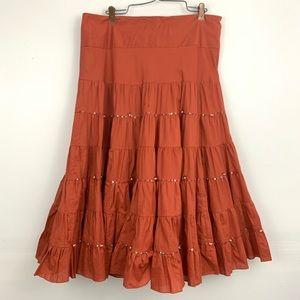 Lapis (Anthro) Boho maxi beaded skirt